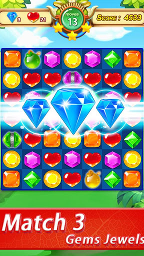 Gems & Jewels - Match 3 Jungle Puzzle Game