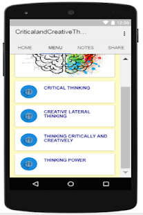 Critical and Creative Thinking - náhled