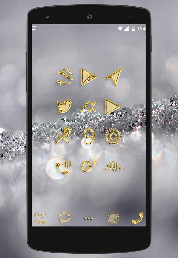 Gold Luxury - icon pack to galaxy htc or any phone- screenshot