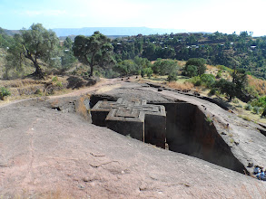 Photo: St. Giorgis Church in Lalibela