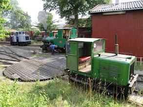 Photo: Morgentravhed ved lokomotivværkstedet