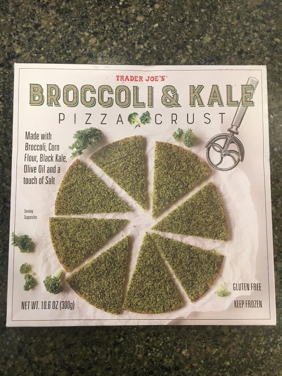 Broccoli & Kale Pizza Crust