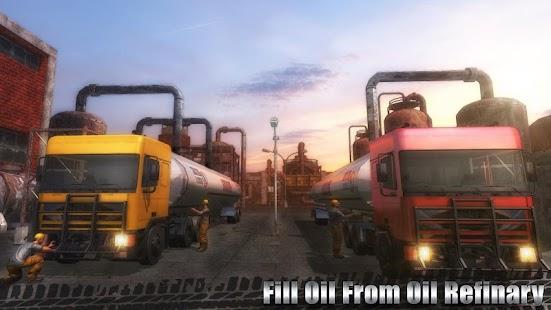 Nákladní vozidlo na přepravu ropy - náhled