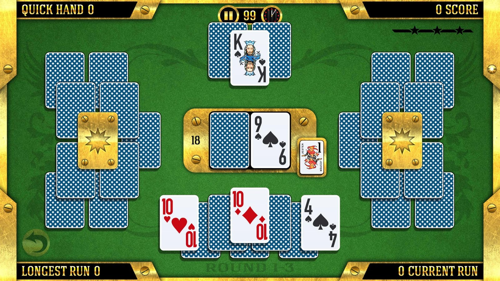 Towers Battle Solitaire- screenshot