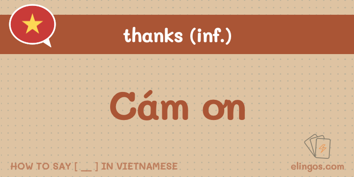 "Informal ""Thank you"" in Vietnamese"