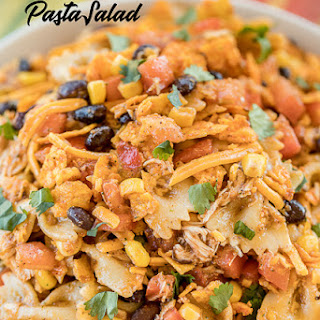 Chicken Fajita Bow Tie Pasta Salad.