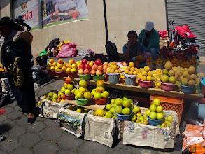 Photo: One of the many street vendors selling fresh produce.