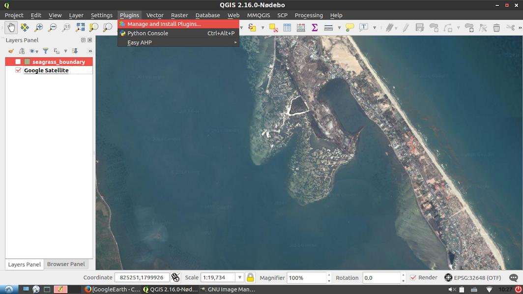 Google Earth hỗ trợ xây dựng bản đồ hiện trạng NTTS và Nguồn lợi thủy sản