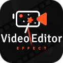 Video editor video maker, photo video maker music icon