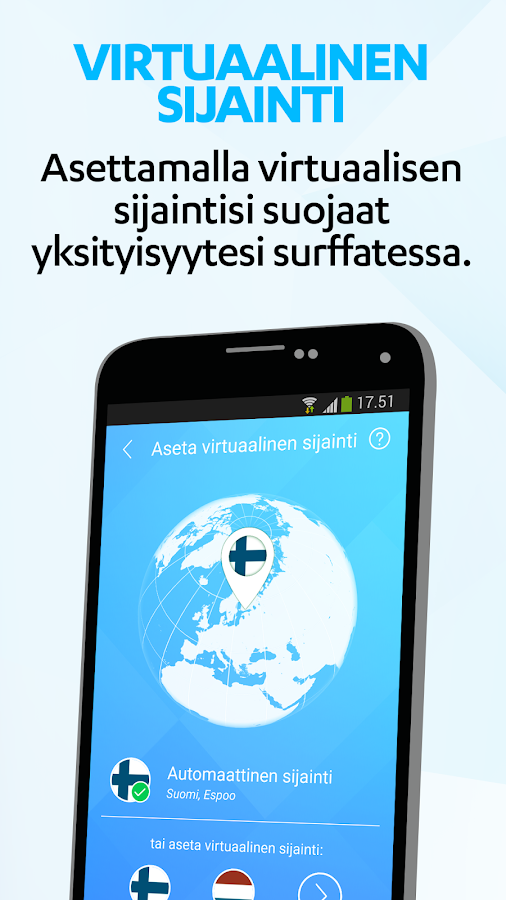 F-Secure Freedome VPN – kuvakaappaus