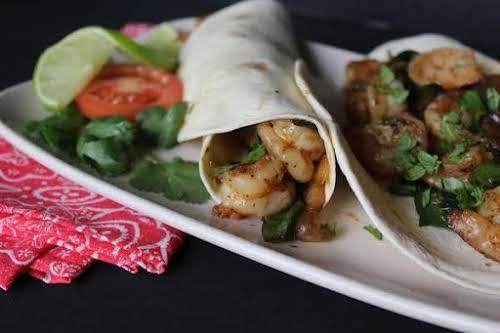 "Shrimp Fajitas for Two""These shrimp fajitas were seasoned to perfection and just..."
