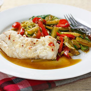 Steamed Chinese Fish & Sauté Vegetables.