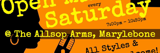 UK Open Mic @ Allsop Arms in Marylebone / Baker Street / Regent's Park on 2019-08-03