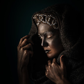 Renaissance by Marius Stoianov - People Portraits of Women ( studio, dirty, fantasy, beauty, queen, femme, renaissance, portrait, mediaval, dark, princess, female, fashion )