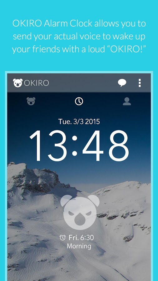 OKIRO Voice Alarm Clock- screenshot