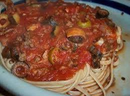 Olive Spaghetti Sauce,  Crock Pot Style Recipe