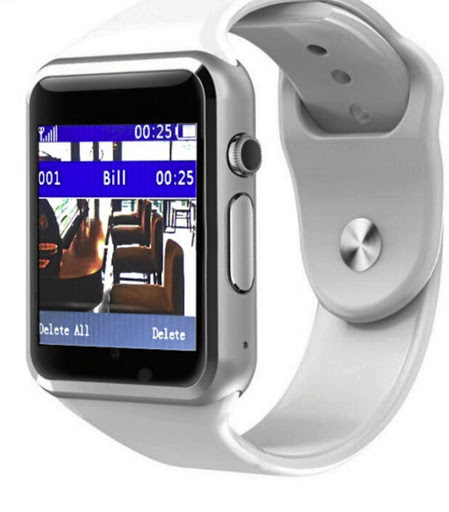 The I-Waiter receiver or smart watch worn by a waiter to alert them if a customer needs service. The device is the brainchild of innovator Lebohang Motsoeneng.