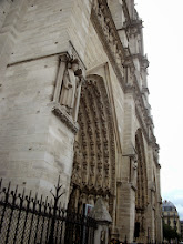 Photo: Facade of Notre Dame, Paris, France