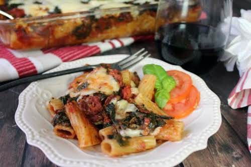 """Drunken Sun-Dried Tomato One Dish Pasta """"The smells are fabulous and only..."""