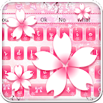 Pink Cherry Bloom Keyboard