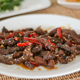 Crispy Beef with Honey and Pepper.