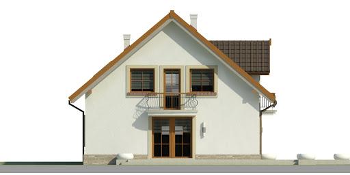 Dom przy Alabastrowej 35 - Elewacja lewa