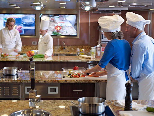 Hone your knife skills at the Culinary Center aboard Oceania Cruises.
