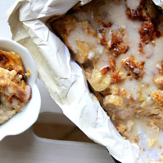 Skinny Banana Bread Pudding