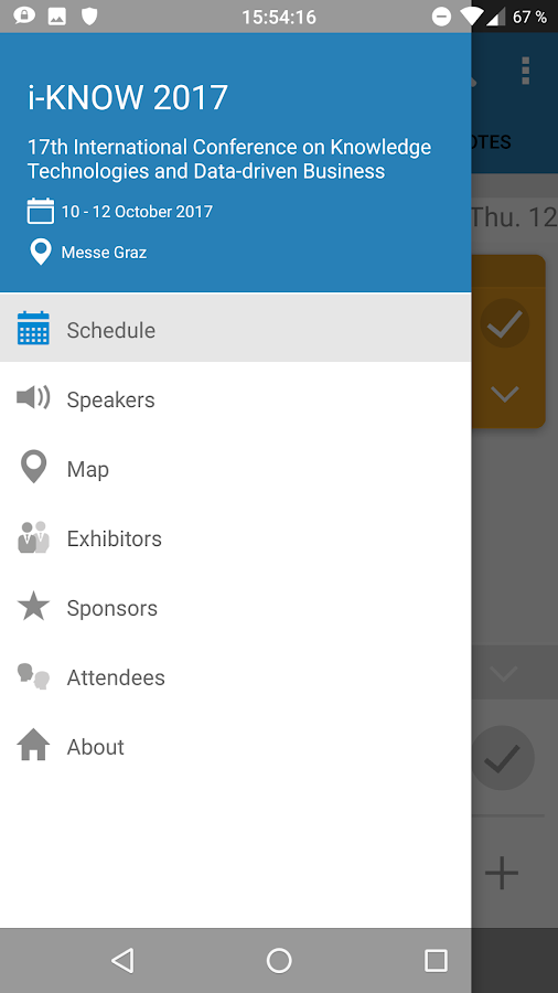 i-KNOW Conference Assistant- screenshot