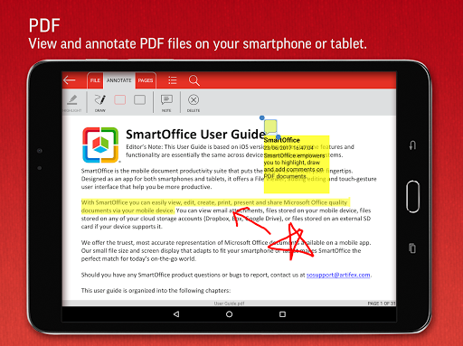 SmartOffice - View & Edit MS Office files & PDFs screenshot 13