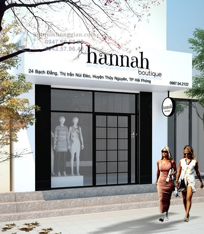 thiết kế shop thời trang nữ tính, mộc mạc, giản dị