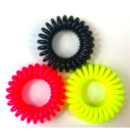 Spiralsnodd svart/rosa/gul