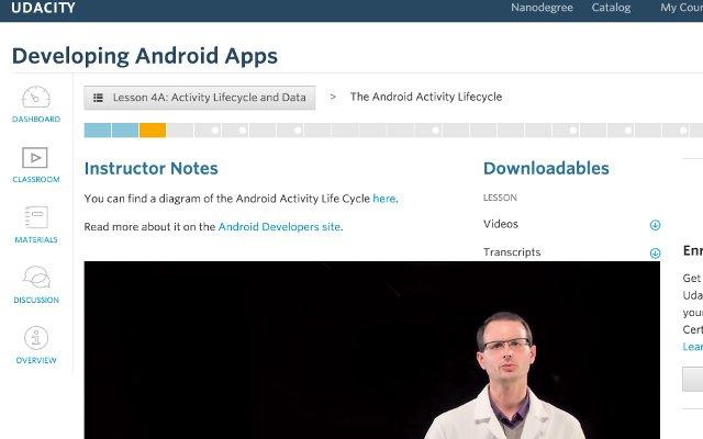 Udacity instructor notes above player