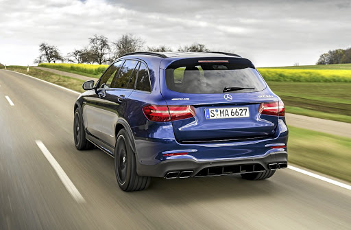 Even other performance SUV owners will only get to see the rear of the GLC 63. Picture: DAIMLER
