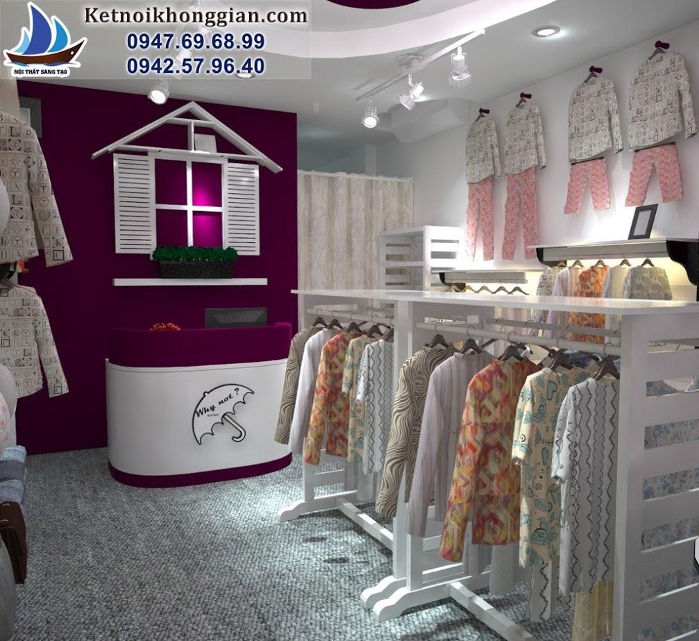 thiết kế shop thời trang nữ sinh động