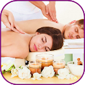 Therapeutic massages. Couples massages icon