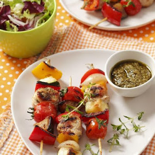Turkey Brochettes with Peppers and Tomatoes