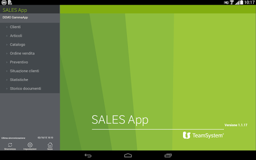 TEAMSYSTEM SALES App