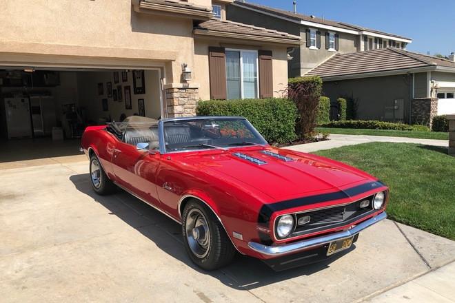 1968 Red Camaro Convertible Hire CA