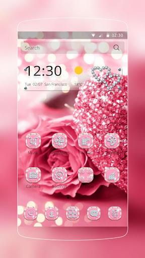 粉色愛心玫瑰鑽石