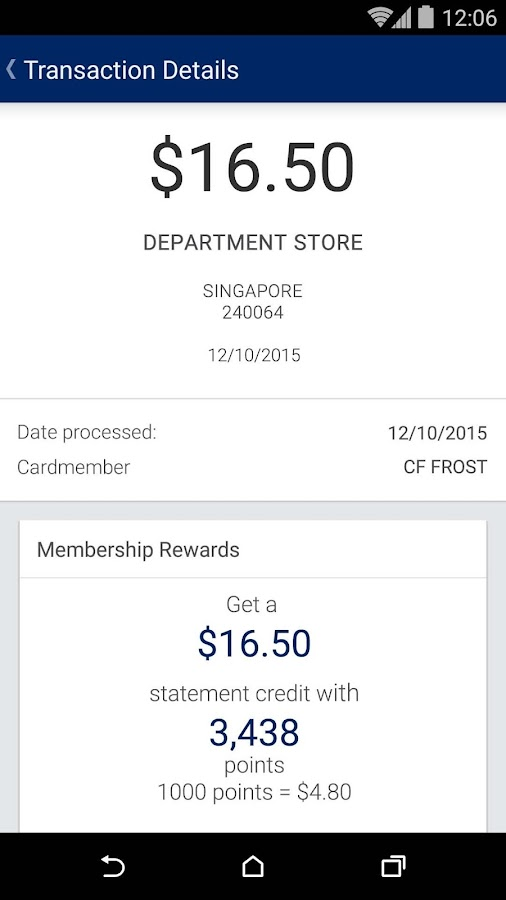 Amex SG- screenshot