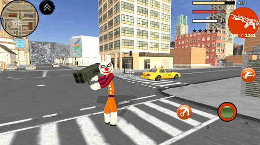 Clown Stickman Rope Hero Gangaster Vegas Crime 1.0 screenshots 1
