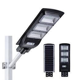 Lampa solara 180 W cu acumulator, senzor crepuscular si telecomanda