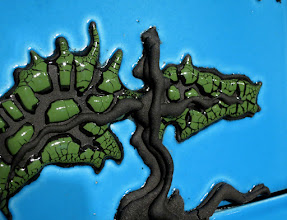 """Photo: """"Fractal Tree, Top Detail"""" The crackle glaze echos the fractal nature of the imagery."""