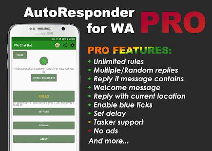 AutoResponder for WA Pro Screenshot