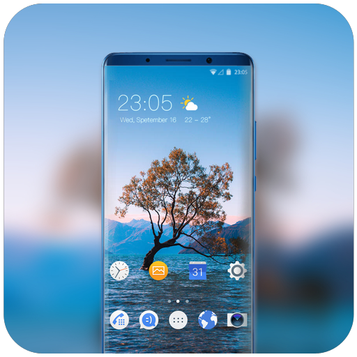 Theme for Mi mix 2s tree in the river wallpaper icon