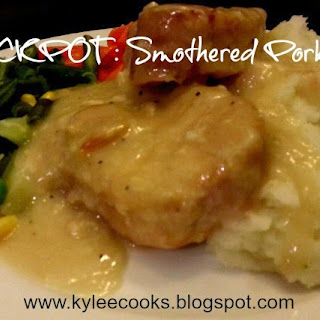 SMOTHERED PORK CHOPS (CROCKPOT)