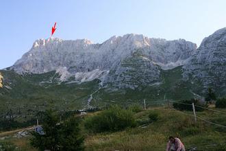 Photo: pogled na celotrn masiv Montaža - vrh je označen