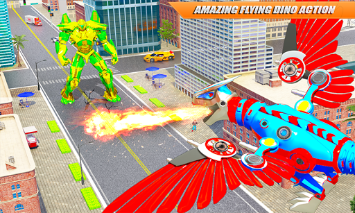Flying Dino Transform Robot: Dinosaur Robot Games screenshot 2