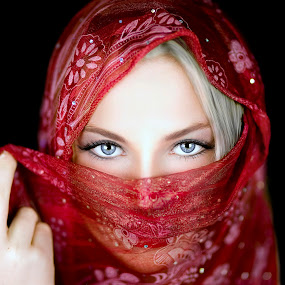 Look Closer by Chris O'Brien - People Portraits of Women ( studio, fashion, red, girl, woman, beauty, deep, eyes,  )